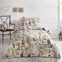 Подростковое постельное белье Tivolyo Home Seaside делюкссатин полуторный