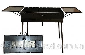 Мангал чемодан с двумя столиками на 7 шампуров 30 х 55