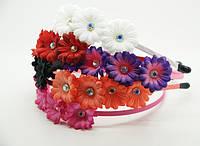 Обручи для волос с цветами (12шт) .25