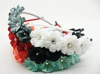 Красивые ободки для волос с цветами (12шт) .27