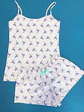 Піжама жіноча шорти з майкою ТМ Antana мод 53 Колібрі