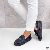 Кожаные туфли на маленькой платформе