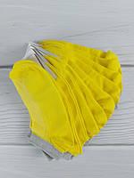Носки женские желтые полоска серебро (размер 23-25)