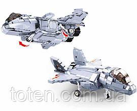 Конструктор SLUBAN Могутній винищувач 47,4 см, 2в1, 926 деталей M38-B0931