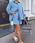 Стильний костюм жіночий прогулянковий з льону, фото 3