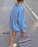 Стильний костюм жіночий прогулянковий з льону, фото 4