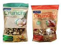 Кранчі (хрусткі мюслі) Crunchy Crownfield з горіхами  та полуницею 350 г