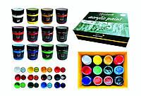 Акриловые краски 100 мл 12 эксклюзивных цветов Art Planet