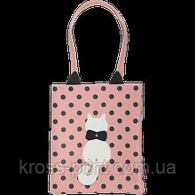Сумка на плече PUSSY CAT, 29x35x3 см, рожева (декор: кіт з рухомим хвостом)