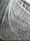Тюль готовая пошитая органза на тесьме 260х365 Белый код 01610