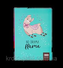 Блокнот SWEET Lama, A5 (150х202мм), 64л., кл, інт. обл., мат. лам. + Уфлак, KIDS Line, м'ятний
