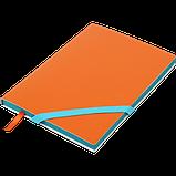 Блокнот деловой LOLLIPOP, L2U, А5, 96 л., линия, оранж., иск. кожа, фото 2