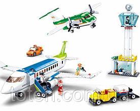 Конструктор Аеропорт, літак, транспорт, фігурки, 731 деталь SLUBAN M38-B0930