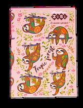 Блокнот PATTERN, А5 (150х202мм), 64л., кл, інт. обл., мат. лам. + Уфлак, KIDS Line, рожевий