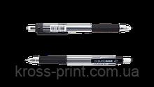 Ручка гелевая автоматическая TARGET, 0,5 мм, рез.грип, черные чернила