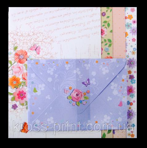 """Заготовка для листівки з кольоровими конвертами """"Charm"""" 10.5*14.8 см, KIDS Line"""