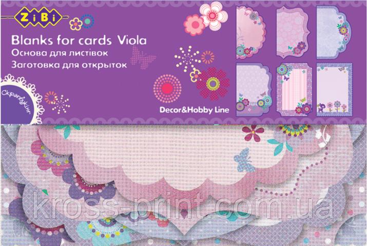 """Заготовка для открыток """"Viola"""" 10.2*15.3см"""