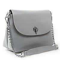 Серая женская сумка через плечо кросс-боди кожа А. Rai классическая сумочка из натуральной кожи, фото 1