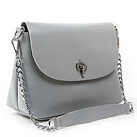 Сіра жіноча сумка через плече крос-боді шкіра А. Rai класична сумочка з натуральної шкіри, фото 1