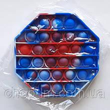 Pop It игрушка антистресс пупырки (Поп-ит 8-миугольник микс цветов) Попит Popit