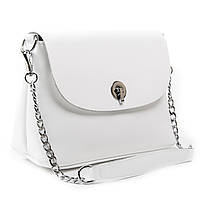 Біла жіноча сумка через плече крос-боді шкіра А. Rai класична сумочка з натуральної шкіри, фото 1