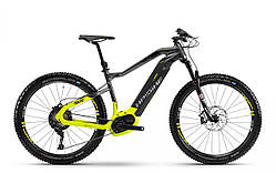 "Электровелосипед Haibike SDURO HardSeven 9.0 500Wh 27,5"", рама L, титан-черно-жёлтый, 2018"