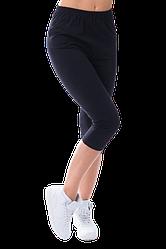 Жіночі капрі бавовна Kolo 4XL чорні