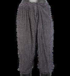 Жіночі капрі з кишенями Алія 7082 L-6XL чорні з білим