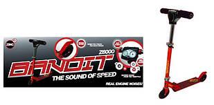 Скутер-самокат Zinc Бандит со звуком 28917 красный