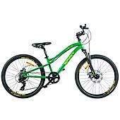 """Велосипед Spirit Flash 4.2 24"""", рама Uni, зелений/матовий, 2021"""
