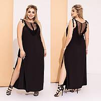 Р 48-52 Вечернее платье с прозрачными вставками и высоким разрезом Батал 238384