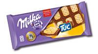 Milka шоколад молочн. с печеньем TUC, 100 г