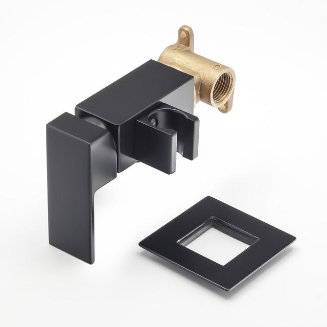 Смеситель скрытого монтажа для гигиенического душа BSGD-03 с дизайном квадратной формы.