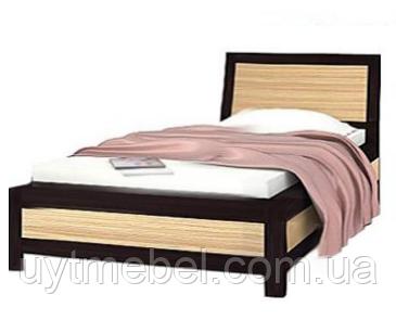 Ліжко Капрі 900 +вклад венге м/зебрано африканське (Гербор)
