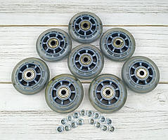 Колеса для роликових ковзанів 72 мм (прозорі) 8шт