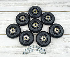 Колеса для роликових ковзанів 72 мм (чорні) 8шт