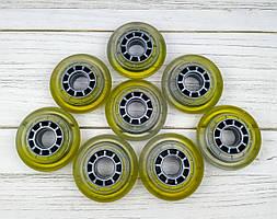 Колеса для роликових ковзанів 72 мм (прозорі) 8шт без підшипників