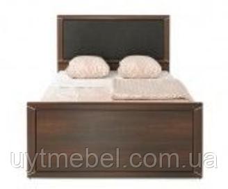 Ліжко Палемо 900 +вклад вишня малага/вставка сіра тканина (Гербор)