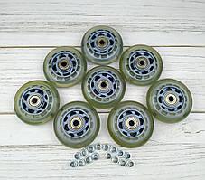 Колеса для роликових ковзанів 76 мм (прозорі) 8шт