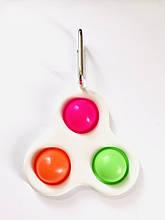 Сенсорна іграшка Simple Dimple поп іт антистрес сімпл дімпл pop it брелок three dots 2