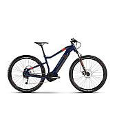 """Электровелосипед Haibike SDURO HardNine 1.5 i400Wh 9 s. Altus 29"""", рама L, сине-оранжево-серый, 2020"""
