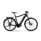 """Электровелосипед Haibike SDURO Trekking 5.0 men i500Wh 20 s. XT 28"""", рама XL, сине-оранжево-серый, 2020"""