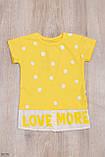 """Модна футболка для дівчинки"""" Love """" зріст 116-128 (6-8 років) 4 кольори, фото 2"""