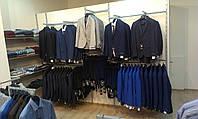Торговое оборудование б/у для бутика мужской одежды.