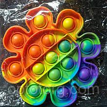 Поп-Ит  Pop-It антистресс-игрушка радужная ромашка  Ø 12,5 см