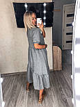 Женское платье льняное летнее с коротким рукавом, фото 3