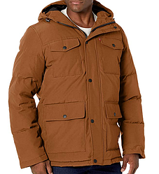 Levi's Men's Arctic Cloth Quilted Performance Parka - Worker Brown (XL)