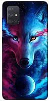 Чехол itsPrint Небесная волчица для Samsung Galaxy A71, Чехол с принтом для смартфона самсунг гелекси А71