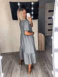 Стильное платье летнее женское льняное с коротким рукавом, фото 5