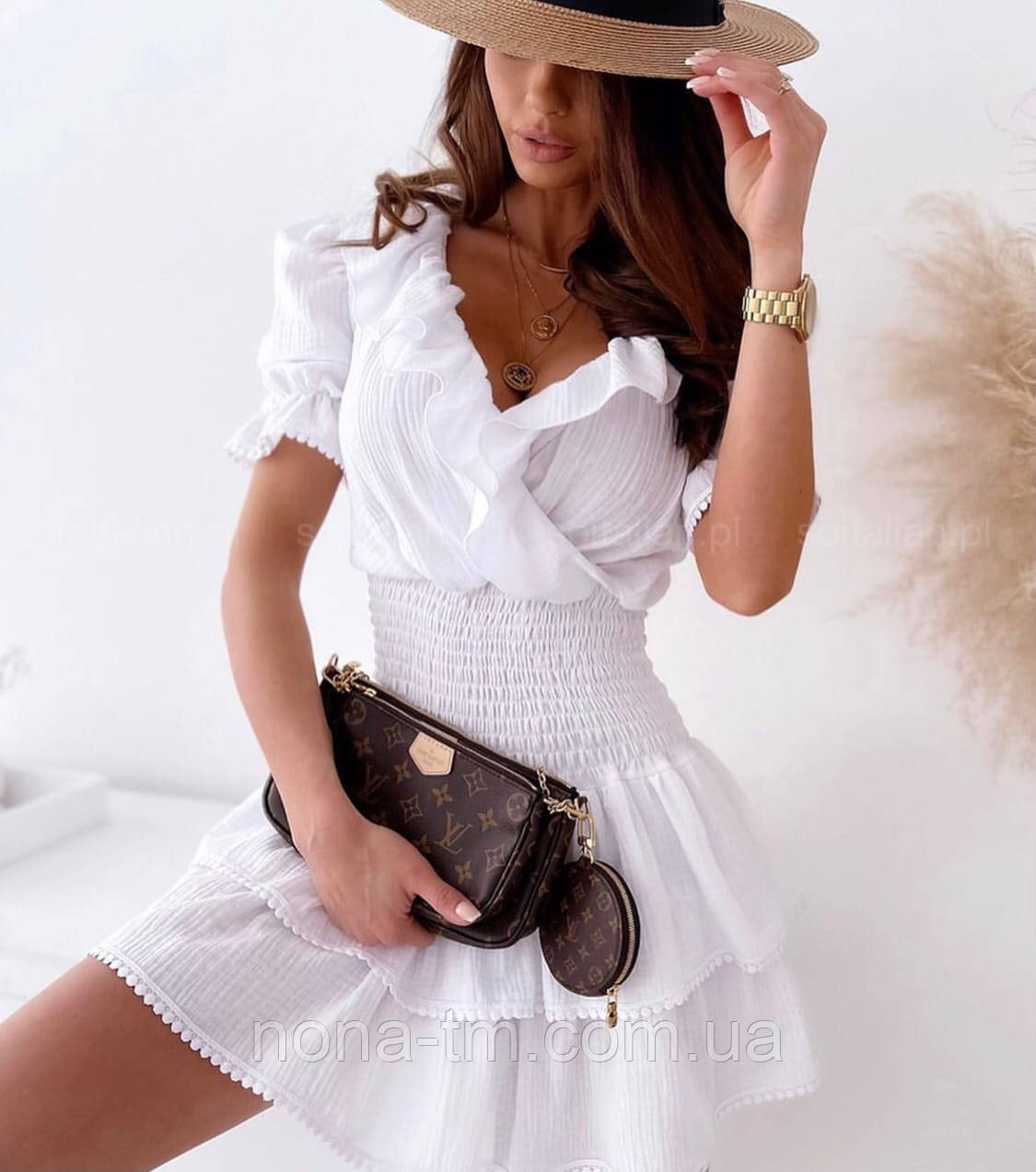 Летнее платье женское короткое на каждый день
